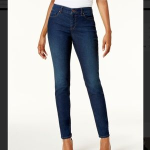 Style Co Tummy Control Skinny Leg Blue Denim Jeans